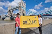 Флаг Smolsat в Лондоне