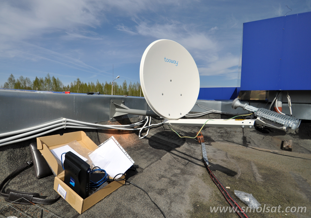 Настройка антенны Tooway
