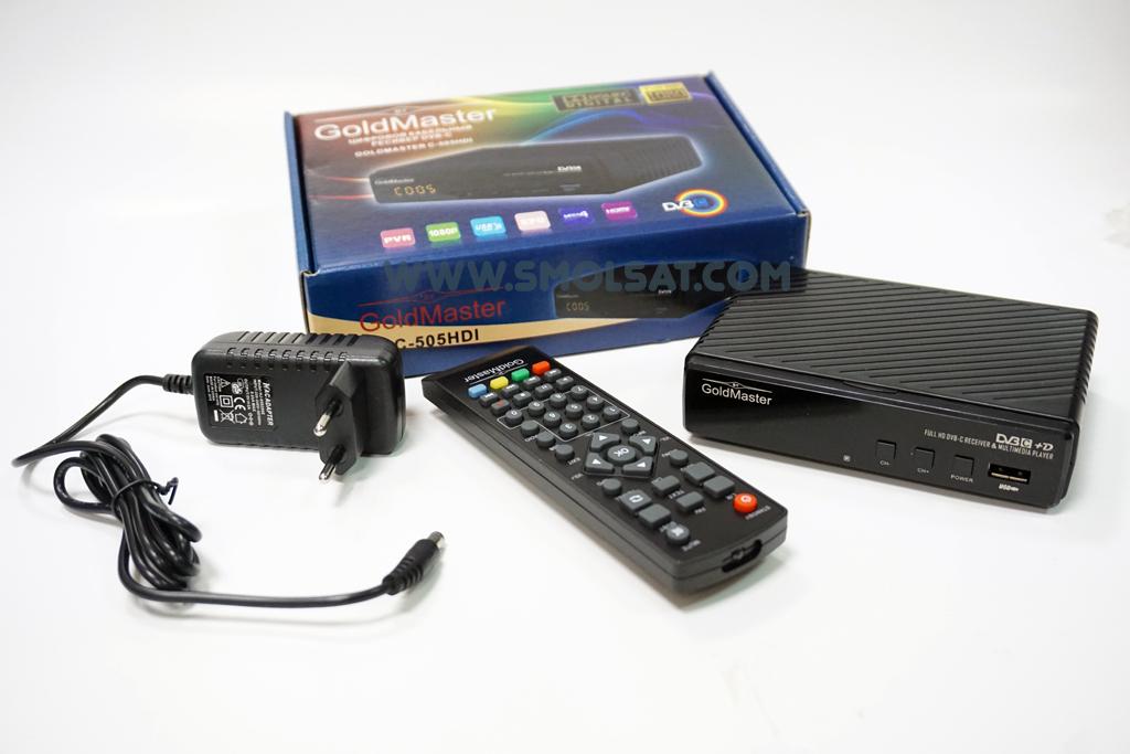 Кабельный ресивер GoldMaster C-505HDI DVB-C MPEG-4 купить в Смоленске